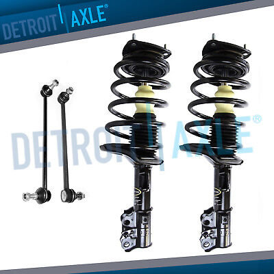 Complete Front Strut /& Coil Spring w//Mount Assemblies /& Front Sway Bar End Link Pair and 2 Rear Shocks for FWD Models 2006 2007 2008 2009 2010 2011 Kia Rio Rio5 /& Hyundai Accent