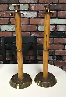 Enormous Pair Of Bakelite Candlesticks18 Inches