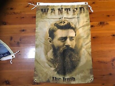 Ned Kelly man cave pool room flag outlaw bushranger biker bar sign aussie legend