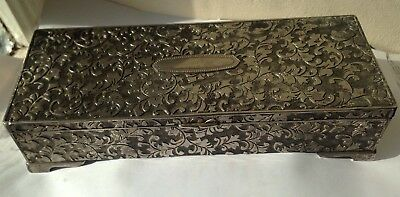 Silver plated Vintage Antique Jewellery Box