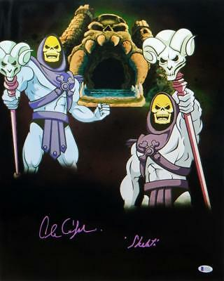 Alan Oppenheimer Autographed Skeletor 16x20 Dual Image Photo- Beckett Auth *Purp