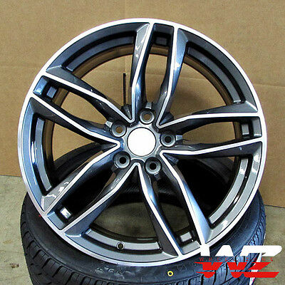 19 in Audi RS6 1196 Avant Style Wheels Rims Gunmetal Machined Fits A4 A5 A6 S4