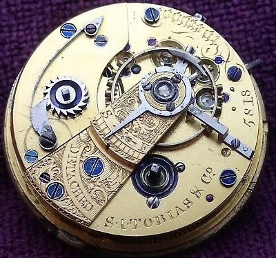 S.I.Tobias PENNINGTON Balance Fusee MASSEY LEVER Pocket Watch Movement c1815