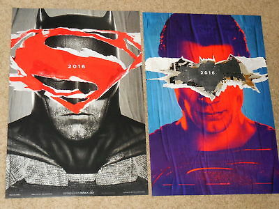 BATMAN V SUPERMAN: DAWN OF JUSTICE SET OF 2 IMAX 13.5x20 PROMO MOVIE POSTERS