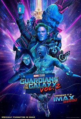 Guardians of the Galaxy Vol. 2 IMAX 13x19 Promo Movie POSTER