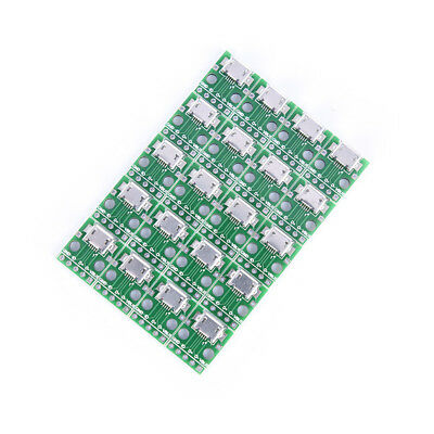 20pcs 5-pin Female micro usb to DIP Adapter 2.54mm Pinboard PCB Connector JKHWC