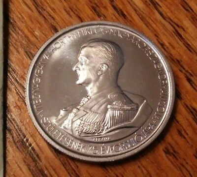 1943 Hungary 5 Pengo 75th Birthday of Admiral Miklos Horthy Beautiful Must See!
