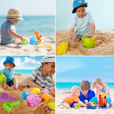 Kids Sand and Water Mill Play Set Sandpit Beach Garden Toy Watering Can Moulds