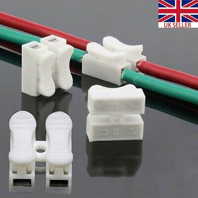 30x Quick Splice Lock Electrical Cable Connectors Wire Terminals Self Locking UK