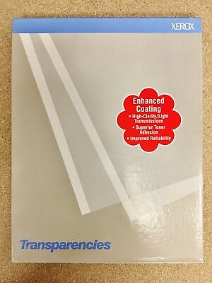 XEROX Transparencies 3R2780 8.5x11 Painted Stripe 100 Sheets/Box - NEW