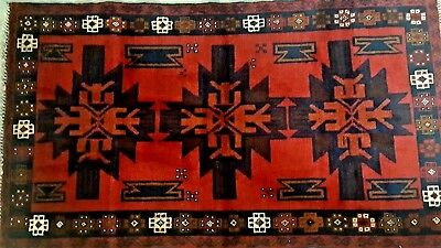 """Authentic Persian Tribal Hand-Knotted Rug New 100%wool Super Quality 3'8"""" X 7'2"""""""