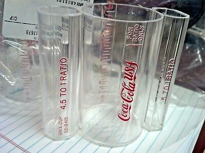 COCA-COLA SODA Brixing Cup  4.5 to1  AND  5.0  to 1 Ratio, COKE MIX CUP, 15507