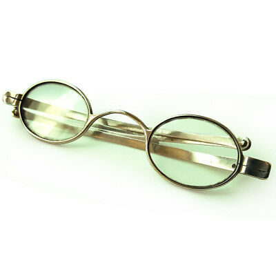 A Fine Antique Pair Of Hallmarked Sterling Silver Georgian Spectacles Glasses
