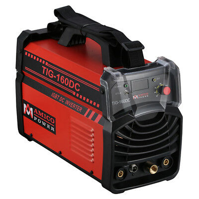 TIG-160DC 160 Amp TIG Torch Stick Arc DC Welder 110/230V Dual Voltage Welding