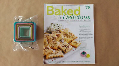 Baked & Delicious Magazine Issue 76 Double Sided Square Pastry Cutters Eaglemoss