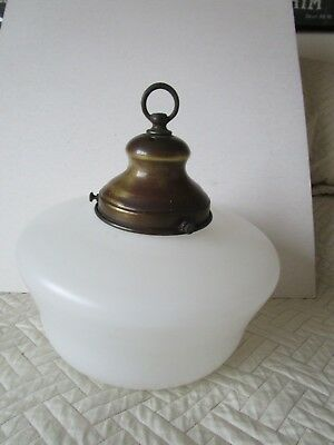 Antique Edwardian Opaline Glass Pendant Lampshade Industrial Light + Gallery
