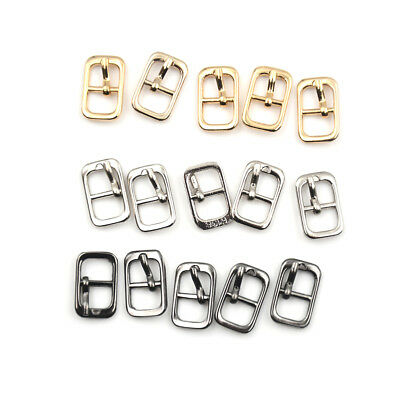 5Pcs 8mm Diy belt buckle shoes accessories mini belt buckle for bjd blyth dollAB