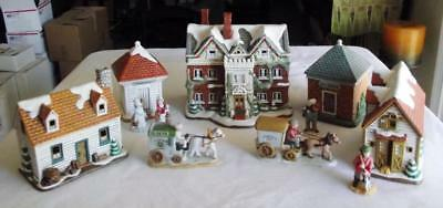 Lefton Colonial Village Collection-The Hermitage Collection-5 Bldgs & 6 Figures