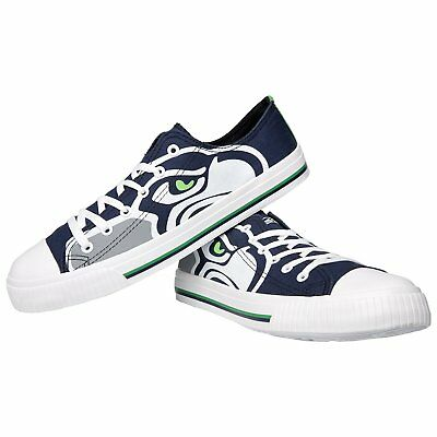 NFL Seattle Seahawks Mens Big Logo Low Top Canvas Shoes Sneakers