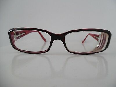 Gucci Silver & Marbled Red & Black Oval Eye Glasses GG 3095 12W 125