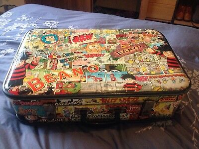 beano suit case full of beano comics perfect for a little menace