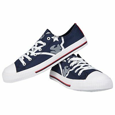 5fa6e980af59de NEW ENGLAND PATRIOTS NFL Womens Low Top Repeat Print Canvas Shoes ...