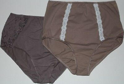 """2 Pairs cotton full granny Panties Knickers Sizes 22 & 24/26 waists 28 - 48"""""""