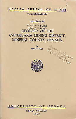 Candelaria gold & silver mines, Hawthorne, Tonopah, NV, report, BIG separate map