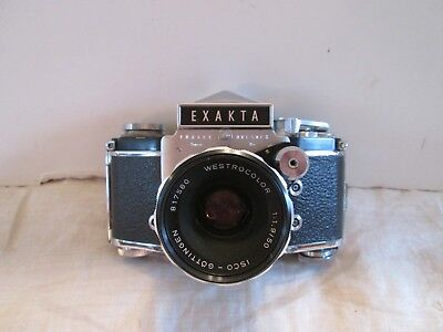 Vintage Exacta Ihagee Dresden 35mm Camera with Leather Case