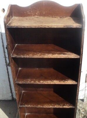 A Very Nice Antique Wooden Bookcase,brown In Colour But Could Be Painted Any Col