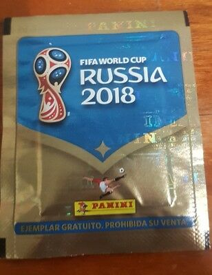Panini Fifa World Cup Russia 2018 Very Rare Sealed Pack Bustina Spanish Edition