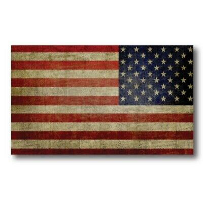 Reverse Weathered American Flag Magnet 3x5 inch Flag Decal for Car or Fridge
