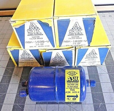 Lot Of Five Alco Controls Ask-163S-V Suction Filter Drier