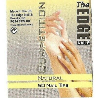 THE EDGE COMPETITION NATURAL WELL-LESS NAIL TIPS *REFIL PACKS 50pk*