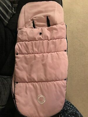 Bugaboo universal footmuff Soft Pink Immaculate Condition Very Light Use