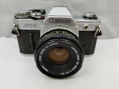 Vintage Canon AT-1 Camera Canon FD 50mm 1: 1.8 S.C. Lens