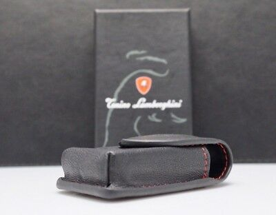 Tonino Lamborghini Black Leather Pouch for Key Lighter Jewelry or Holster