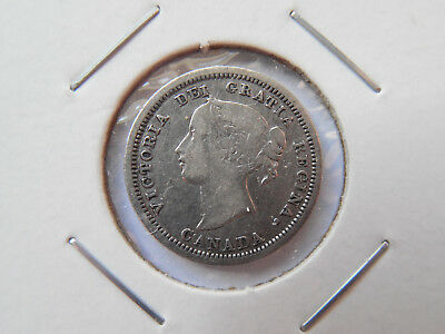 Canada 1858 Large Over Small Date Five Cent Pc. Must See It Very Nice Coin!
