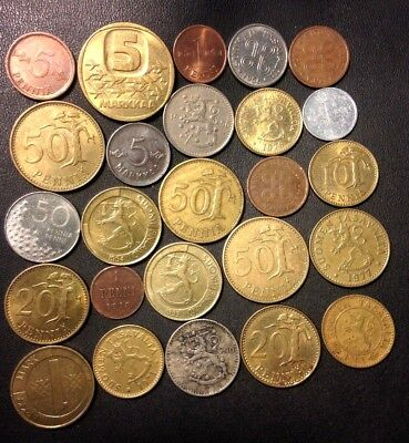 Old Finland Coin Lot - 1913-Present - 25 Great Coins - Lot #A19