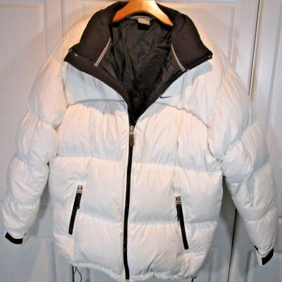 18c36583c056 Mens ~ Nike ~ Overstuffed  Down Feather Puffer Jacket Sz Large Winter Snow  White
