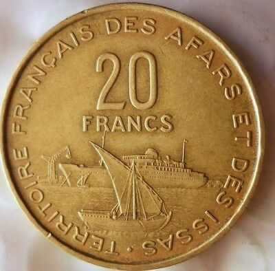 1968 FRENCH AFARS AND ISSAS 20 FRANCS - RARE KEY- Great African Coin - Lot #A19