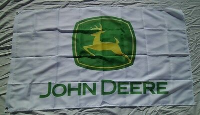 John Deere Tractor 3' X 5' Polyester Flag Banner Man Cave NEW # 208
