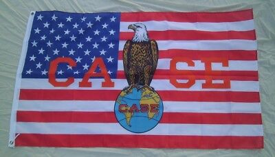Case Tractor Eagle Flag 3' X 5' Polyester USA Flag Banner Man Cave NEW # 325