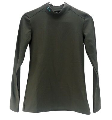 Under Armour UA Womens Cold Gear Compression Mock Neck - Medium - Sage - NEW