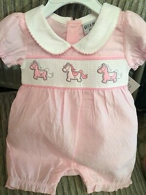 Baby Spanish Style Romper | Pink | Romany Traditional Embroidered | 100% Cotton