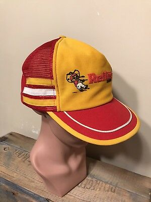 Vintage 80's 3 Stripe Reiter Dairy Cow Hat Snapback Made In USA Patch Trucker