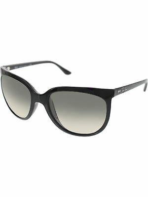Ray-Ban Women's Gradient Cats RB4126-601/32-57 Black Round Sunglasses