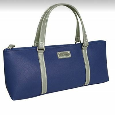 Sachi Insulated Wine Purse Cooler Tote Bag - Navy Blue