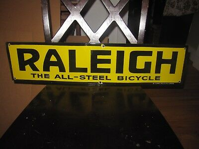 Old Raleigh Bicycle Porcelain Sign