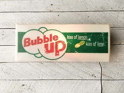 50s/60s vintage Bubble Up Light Up Advertising Sign - lighted gas station ad